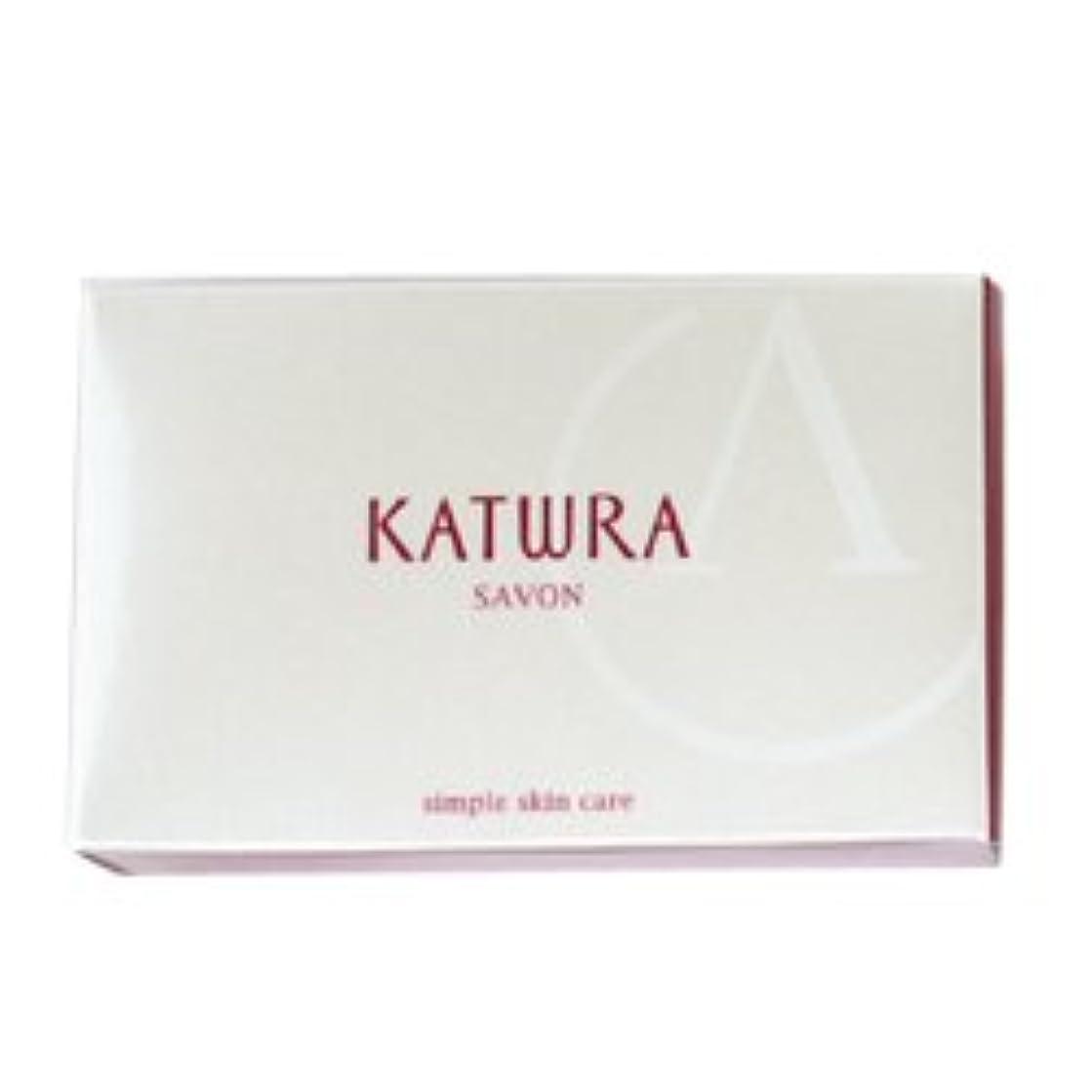 ぬれた割合じゃがいもカツウラ KATWRA サボンA グリーンフローラルの香り 100g