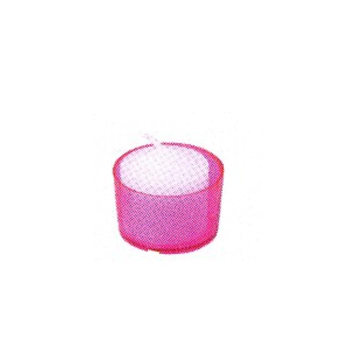 研究所平均王位カメヤマキャンドル カラークリアカップ ボーティブ6 ピンク 24個入
