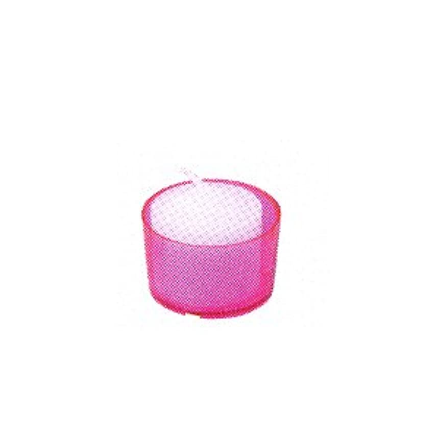 文明交じる拍手するカメヤマキャンドル カラークリアカップ ボーティブ6 ピンク 24個入