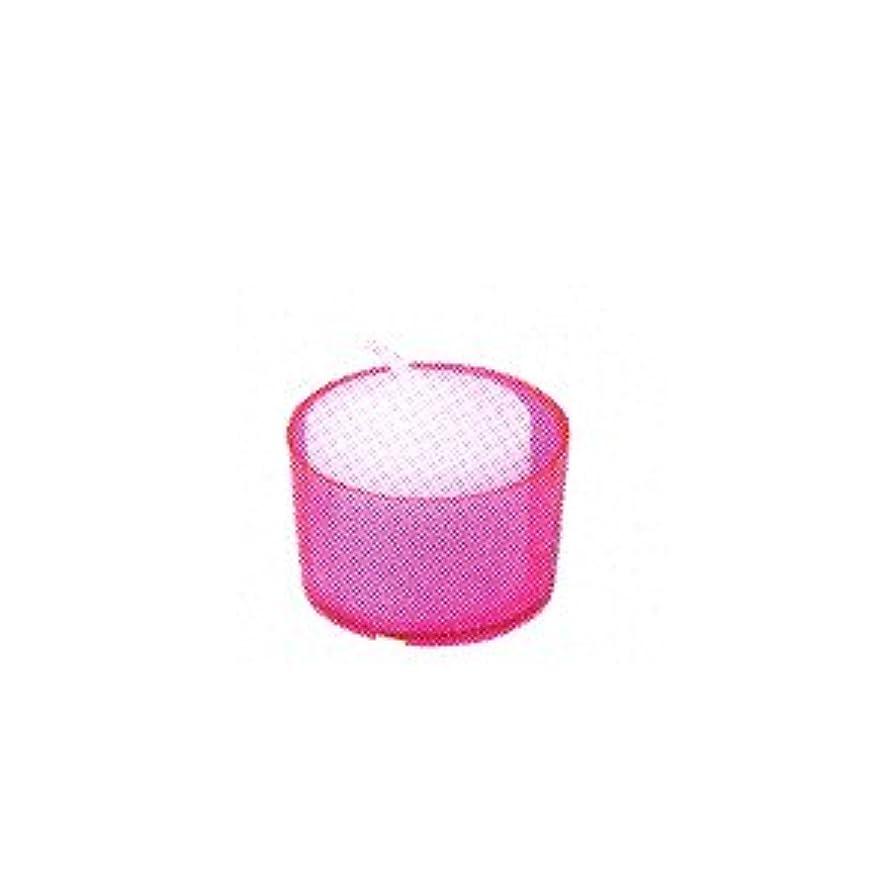 信じられない圧縮された受け皿カメヤマキャンドル カラークリアカップ ボーティブ6 ピンク 24個入