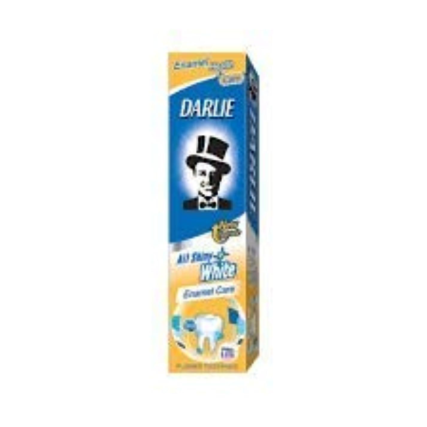 配偶者スポンサー隠すDARLIE 含むフッ素戦うされたチャンバと、歯を保護する - 全て歯磨き粉光沢のある白色エナメル140グラム気