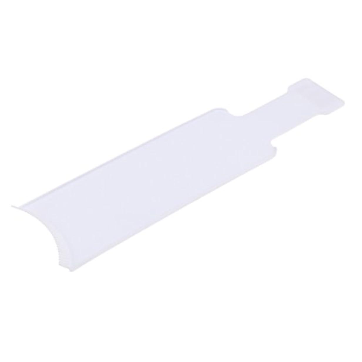 びん壁ガイドライン染色櫛プレート 着色ボード 染めボード ヘアカラー ヘアブラシ 便利 おしゃれ染 2サイズ2色選べる - 白, L