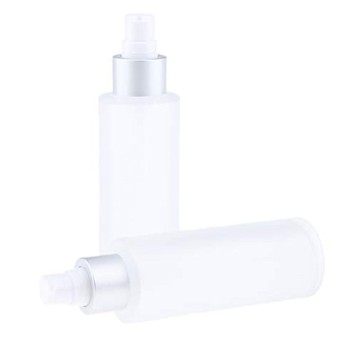 慣れているフィットポーズDYNWAVE 空ボトル 化粧品 詰替え容器 メイクアップボトル ガラス 100ミリリットル 2個入り 全2選択 - ポンプボトル