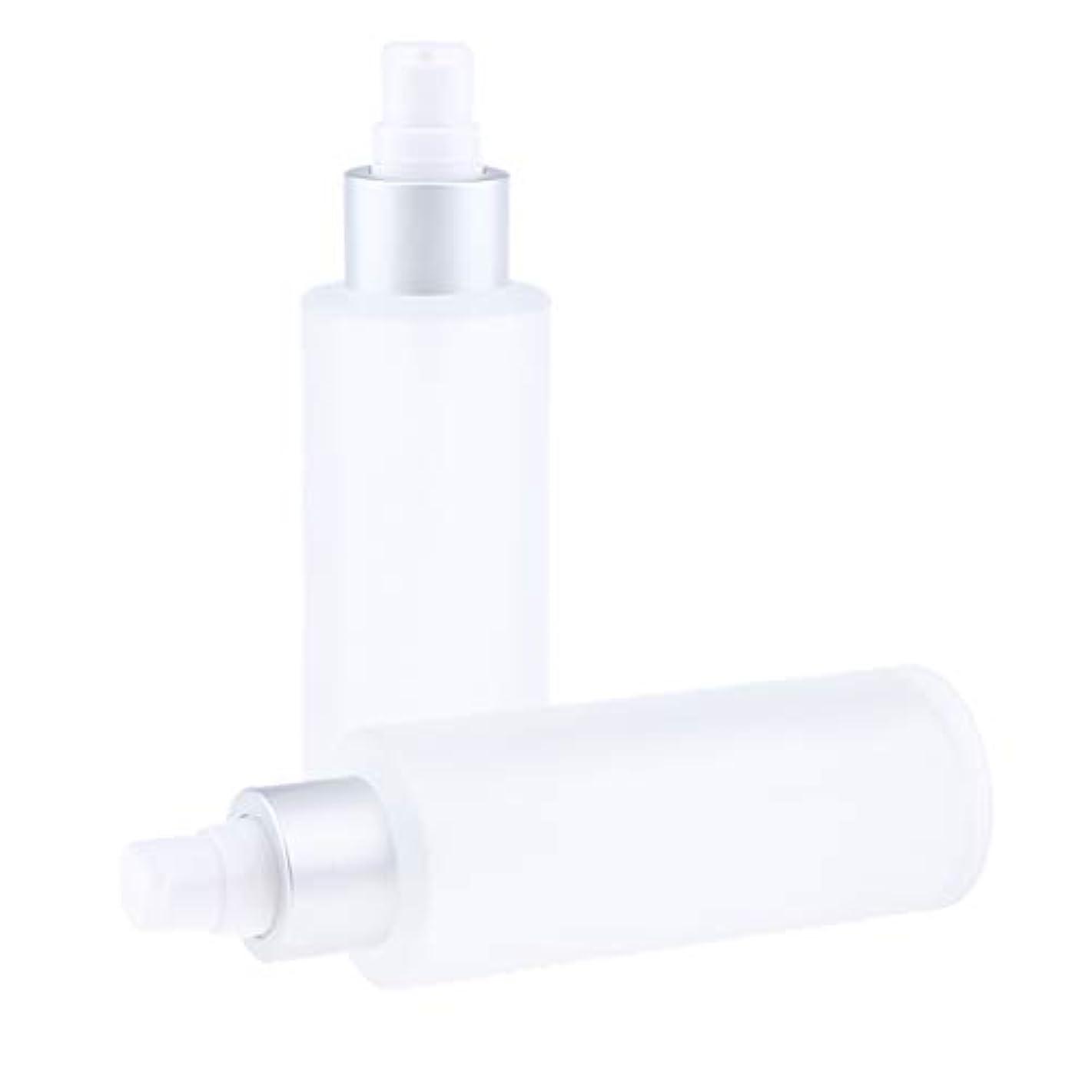バイオリニスト首謀者無声でDYNWAVE 空ボトル 化粧品 詰替え容器 メイクアップボトル ガラス 100ミリリットル 2個入り 全2選択 - ポンプボトル