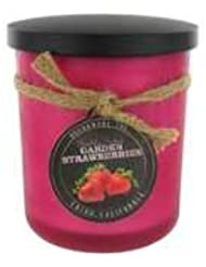 Strawberry ScentedレッドFrosted Jar Candle – 15オンス