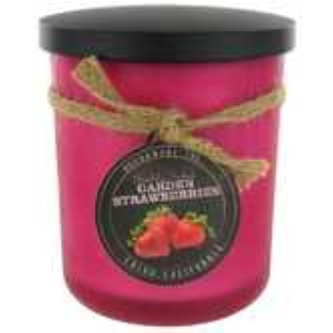 ふさわしいリットルちょうつがいStrawberry ScentedレッドFrosted Jar Candle – 15オンス