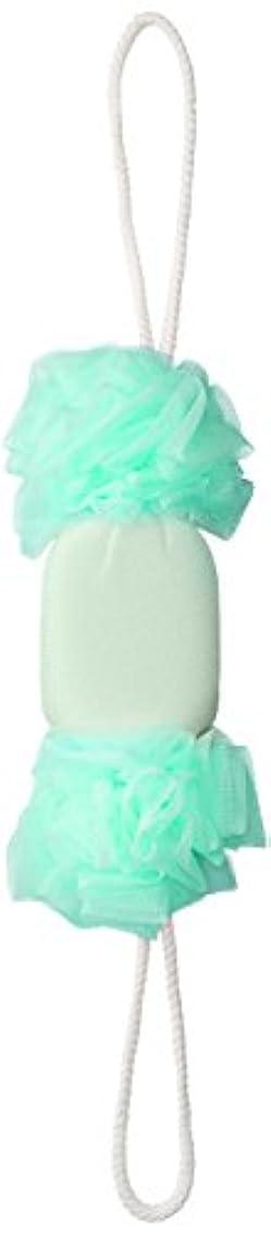 言うレジデンス予定セント?ローレ 紐付きボディタオル 背中泡肌美人 美肌あかすりボディネット エメラルド SL385