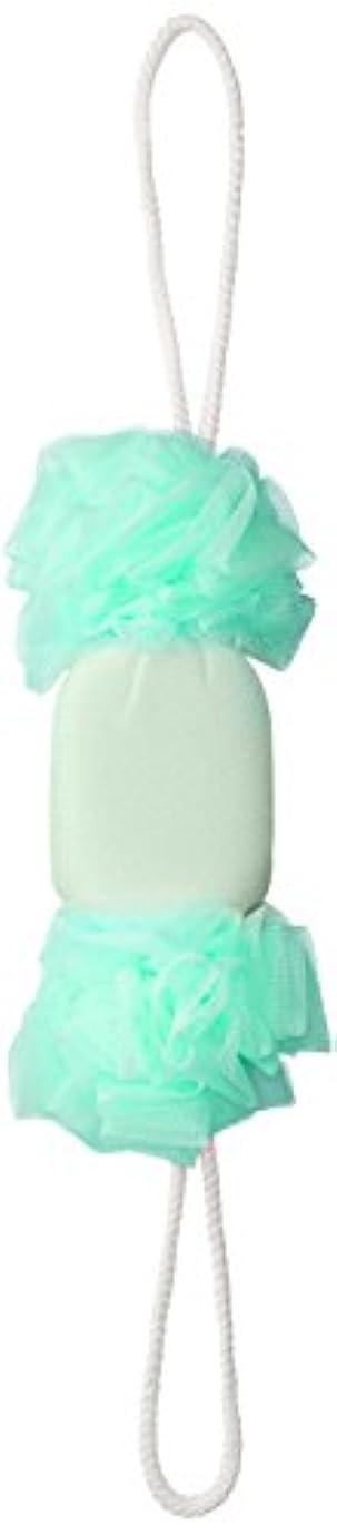 セント?ローレ 紐付きボディタオル 背中泡肌美人 美肌あかすりボディネット エメラルド SL385