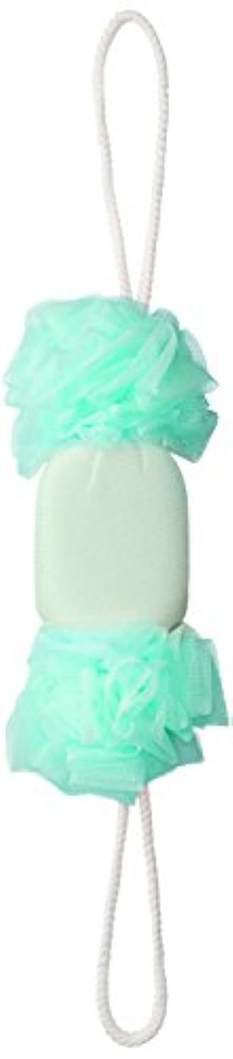 ヒゲクジラ顔料ペニーセント?ローレ 紐付きボディタオル 背中泡肌美人 美肌あかすりボディネット エメラルド SL385