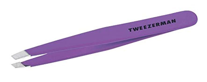 形容詞みなさんマイナーTweezers by Tweezerman Slant Tweezer Blooming Lilac