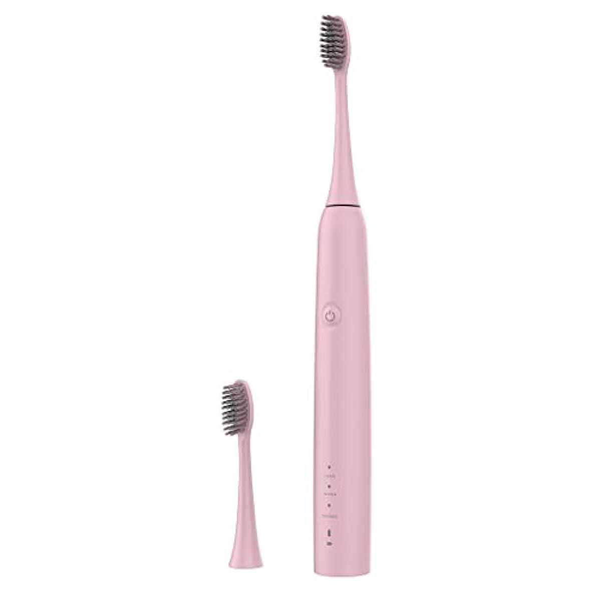 深い前にバスルームLazayyii 新しいT2P電動歯ブラシ 携帯用 口腔衛生 電気マッサージ 口腔ケア (ピンク)