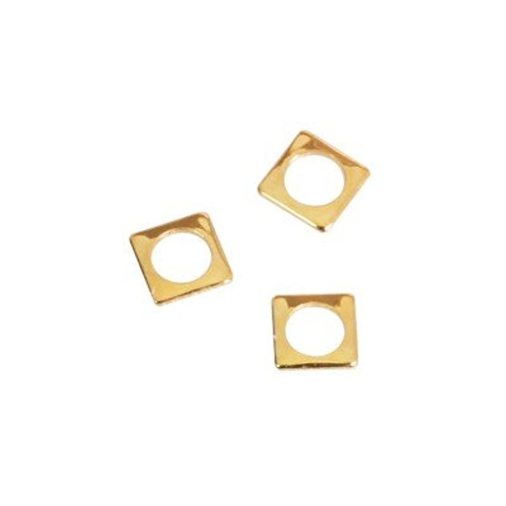 巧みなマナー優しいピアドラ スタッズ スクエア 中抜き(ラウンド)2.5mm 50P ゴールド