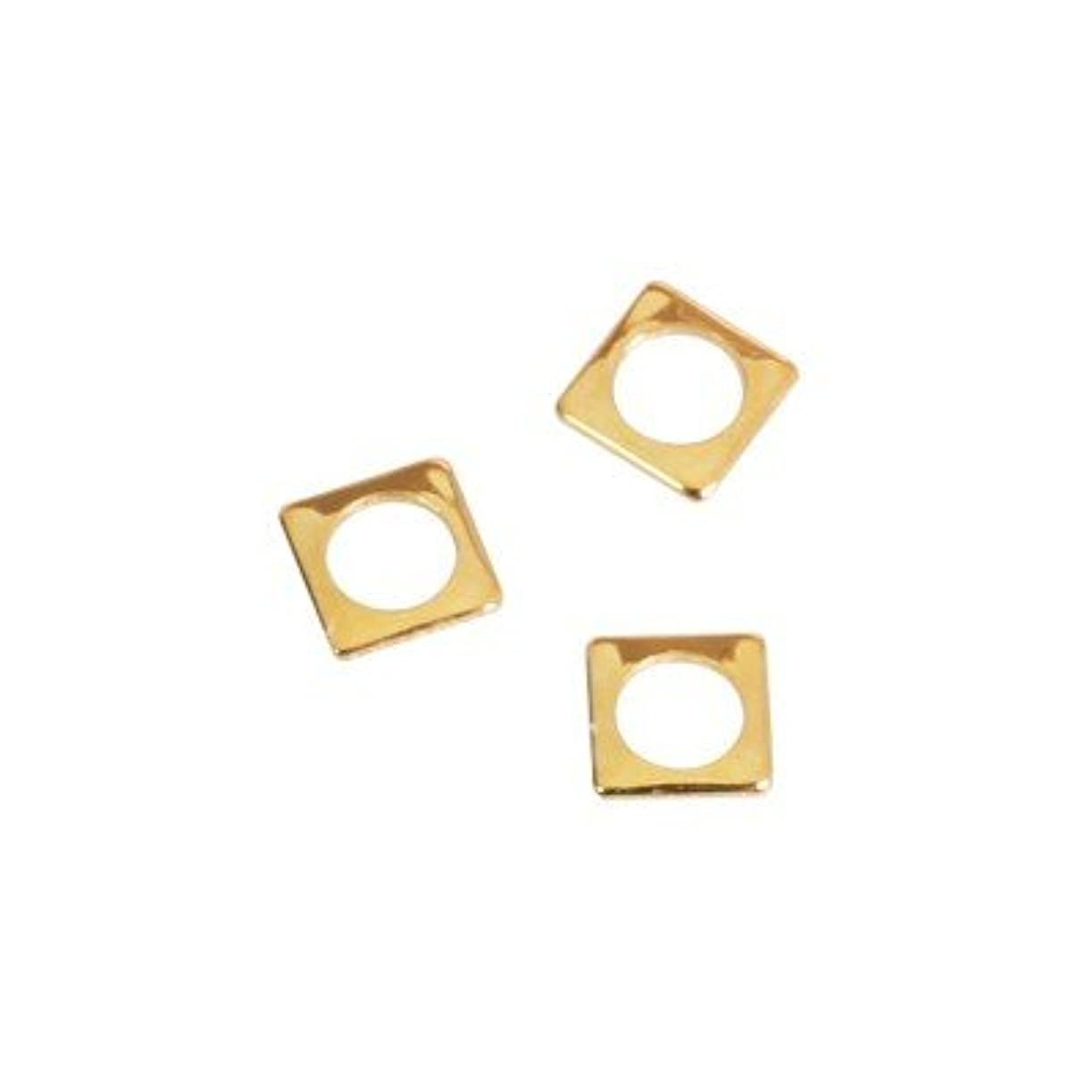 黒くする増幅する乗ってピアドラ スタッズ スクエア 中抜き(ラウンド)2.5mm 50P ゴールド