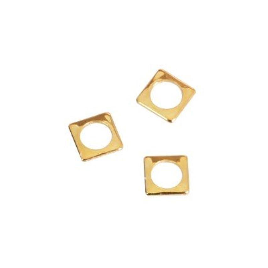骨の折れる続編かわいらしいピアドラ スタッズ スクエア 中抜き(ラウンド)2.5mm 50P ゴールド