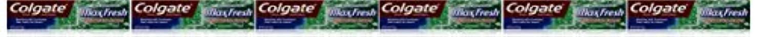 救出有能な消防士Colgate ミニブレスストリップ、クリーンミント、6オンス(6パック)でマックス新鮮なハミガキ 6パック クリーンミント