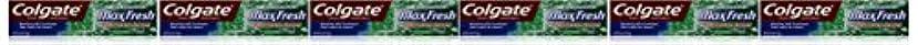 倍増デザートトランスペアレントColgate ミニブレスストリップ、クリーンミント、6オンス(6パック)でマックス新鮮なハミガキ 6パック クリーンミント