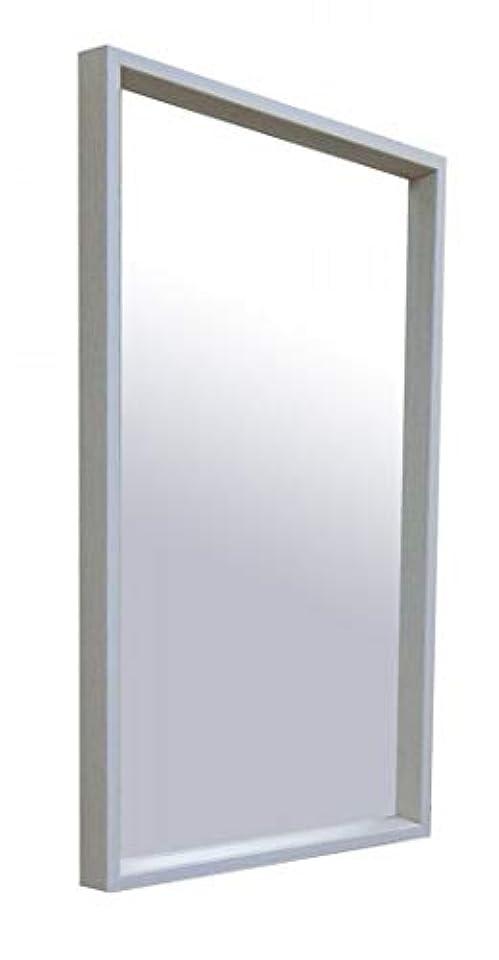 ブームフィード噂NaturalHouse 鏡 壁掛け ミラー 日本製 41 高さ 69 cm フレーム 木製 カガミ 面 飛散防止 加工 W-4169 ASH WH アッシュ ホワイト