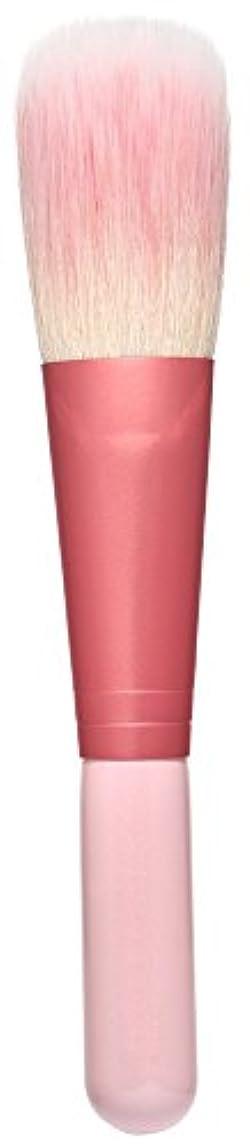 堂々たるウィスキー上向き熊野筆 Purin 3D型チークブラシ(ピンク) KOYUDO Collection