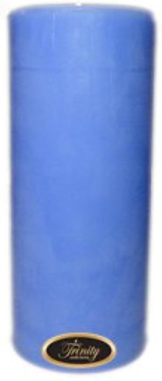 害不適当パプアニューギニアTrinity Candle工場 – ベビーパウダー – ブルー – Pillar Candle – 4 x 9