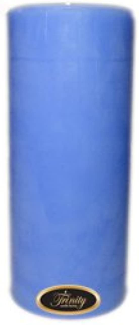 手錠絶滅した印刷するTrinity Candle工場 – ベビーパウダー – ブルー – Pillar Candle – 4 x 9