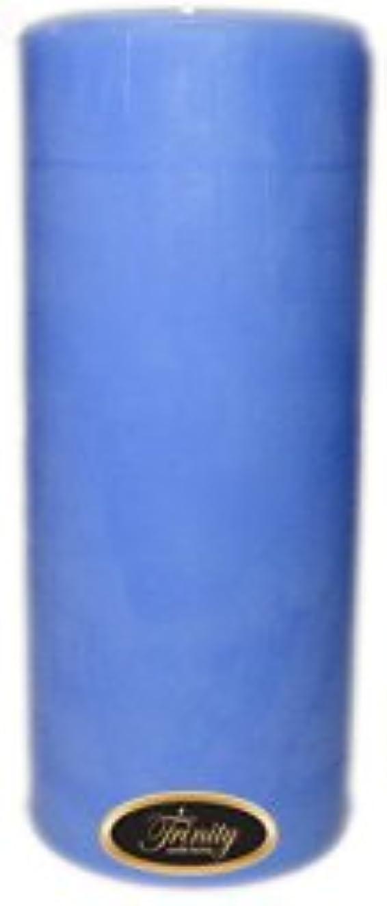 Trinity Candle工場 – ベビーパウダー – ブルー – Pillar Candle – 4 x 9