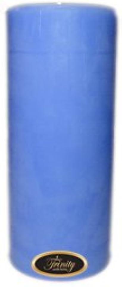 無線清めるリベラルTrinity Candle工場 – ベビーパウダー – ブルー – Pillar Candle – 4 x 9