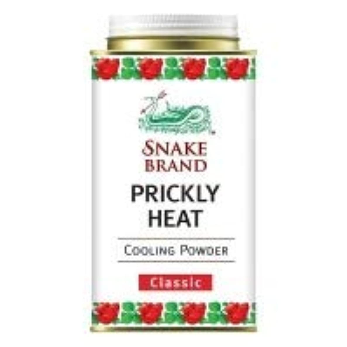 酔った剥ぎ取るマーケティングSnake Brand Prickly Heat Cooling Powder, good for heat rash 140 g. (Classic)