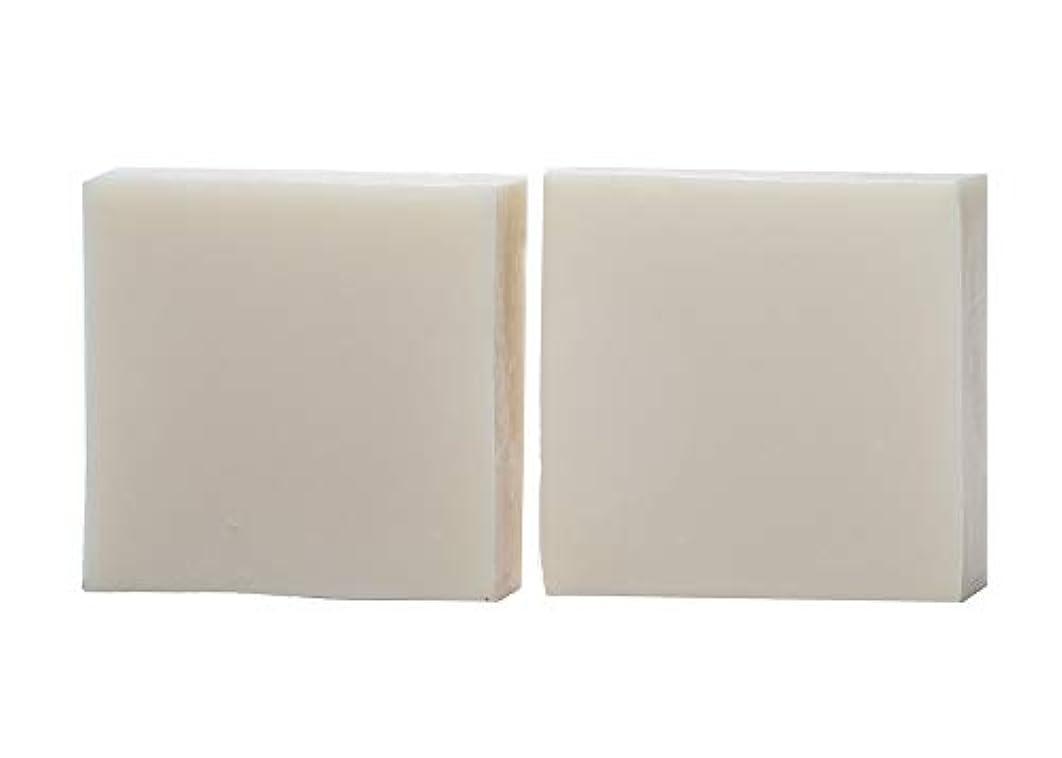 胸共同選択乗ってkeinz 2個セット 純手作り石けん 洗顔?デリケートゾーン専用 「 ブランシュ?ネージュ 」低刺激 無添加 Mサイズ 約110g
