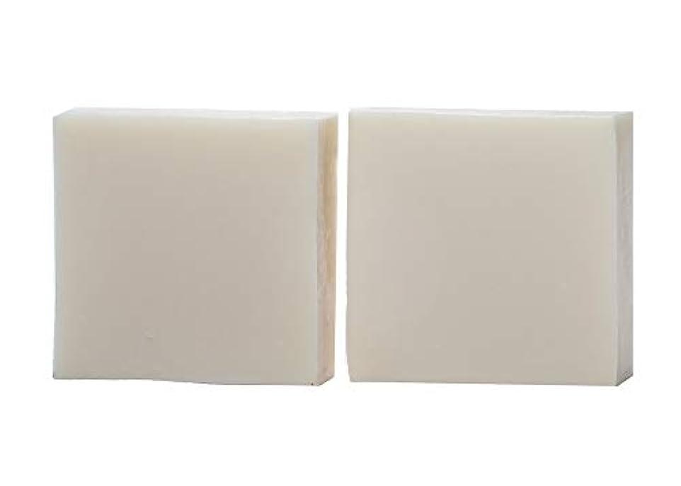 注ぎます明示的にプレゼントkeinz 2個セット 純手作り石けん 洗顔?デリケートゾーン専用 「 ブランシュ?ネージュ 」低刺激 無添加 Mサイズ 約110g