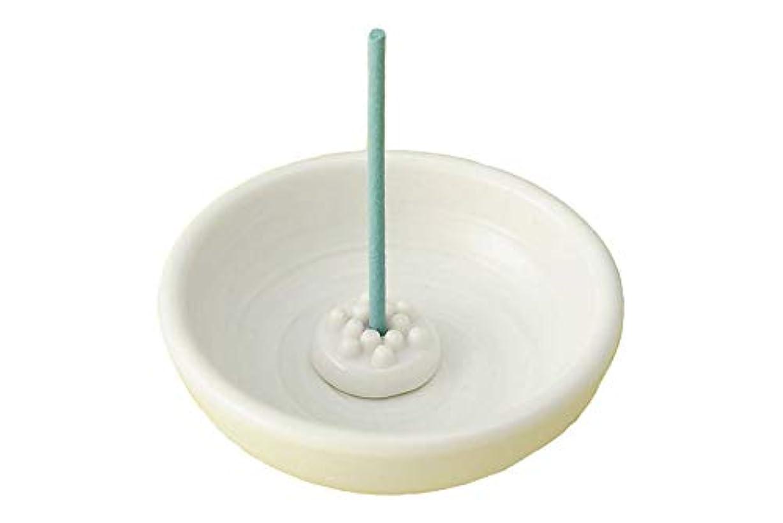 レベル脆い珍しい香皿 香立て/渦 丸型香立鉢 白(香玉付) /香り アロマ 癒やし リラックス インテリア プレゼント 贈り物