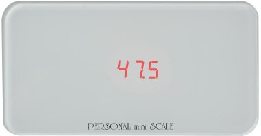 KYOWA パーソナルミニスケール B5用紙より小さい体重計(130kgまで) PS-130WH ホワイト