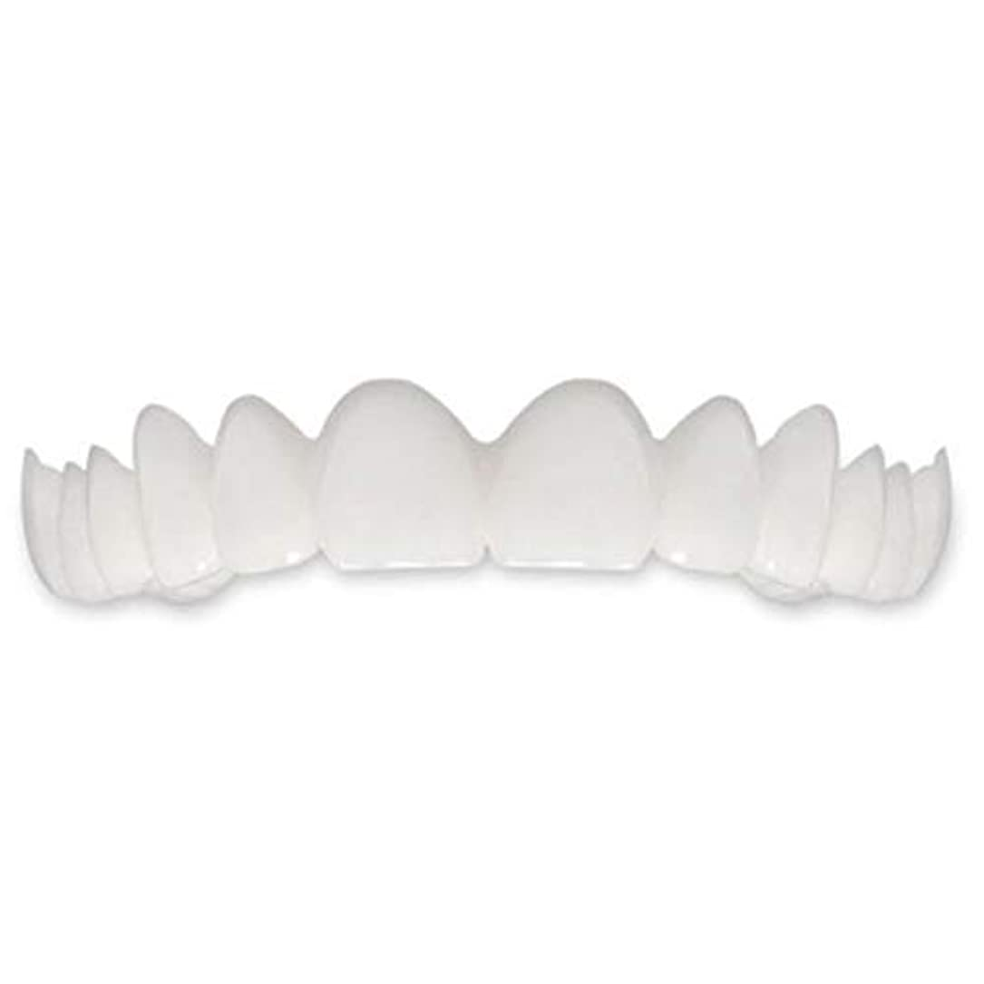 慰め均等に適応するTooth Instant Perfect Smile Flex Teeth Whitening Smile False Teeth Cover-ホワイト