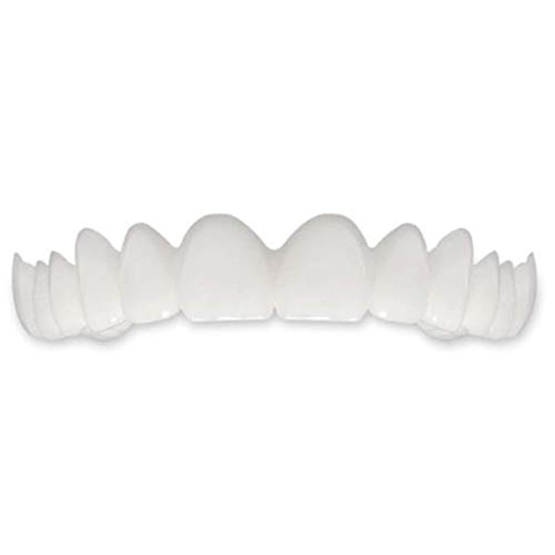 仕事に行くファッション顕微鏡Tooth Instant Perfect Smile Flex Teeth Whitening Smile False Teeth Cover-ホワイト
