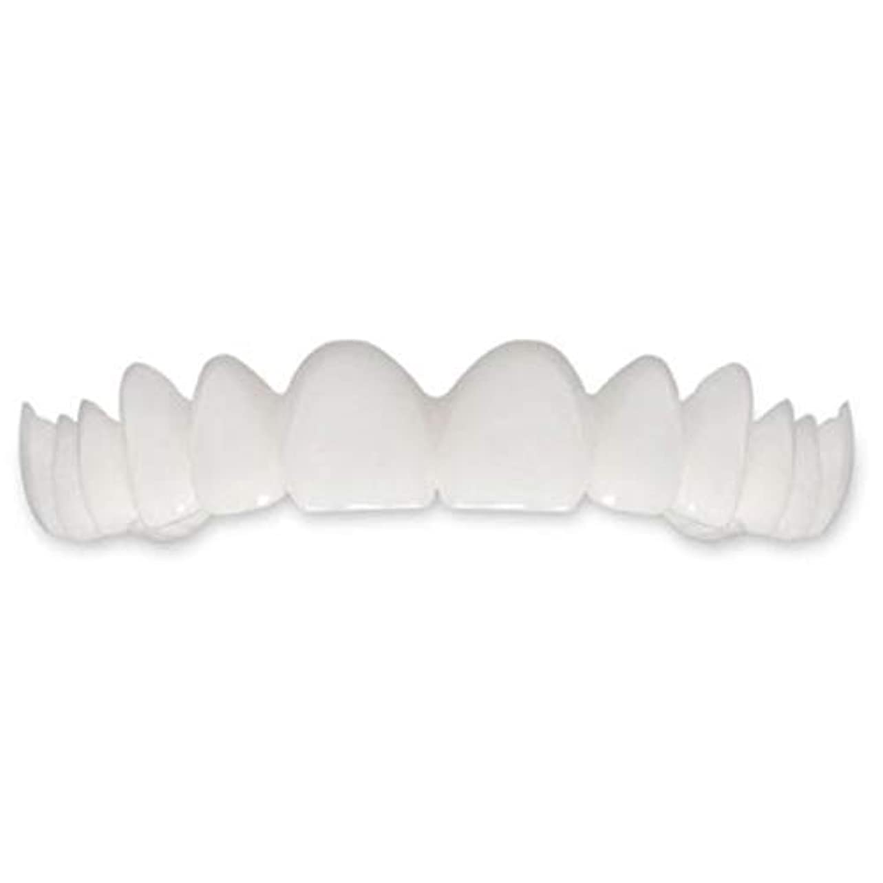 飢饉感謝するチャレンジTooth Instant Perfect Smile Flex Teeth Whitening Smile False Teeth Cover-ホワイト