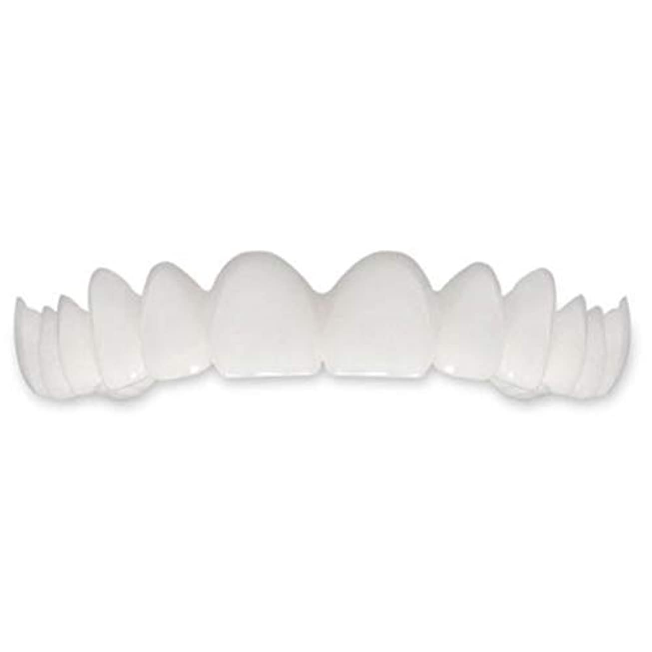 別れる謝る環境に優しいTooth Instant Perfect Smile Flex Teeth Whitening Smile False Teeth Cover-ホワイト