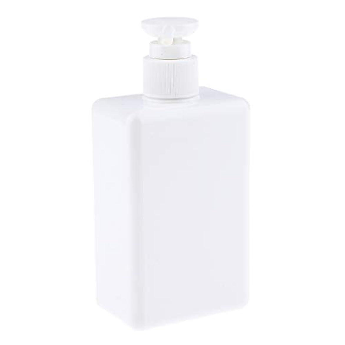 上にブレーキボランティア280ml ポンプボトル 空ボトル 詰め替え容器 プラスチックボトル シャンプー 漏れ防止 全4色 - 白