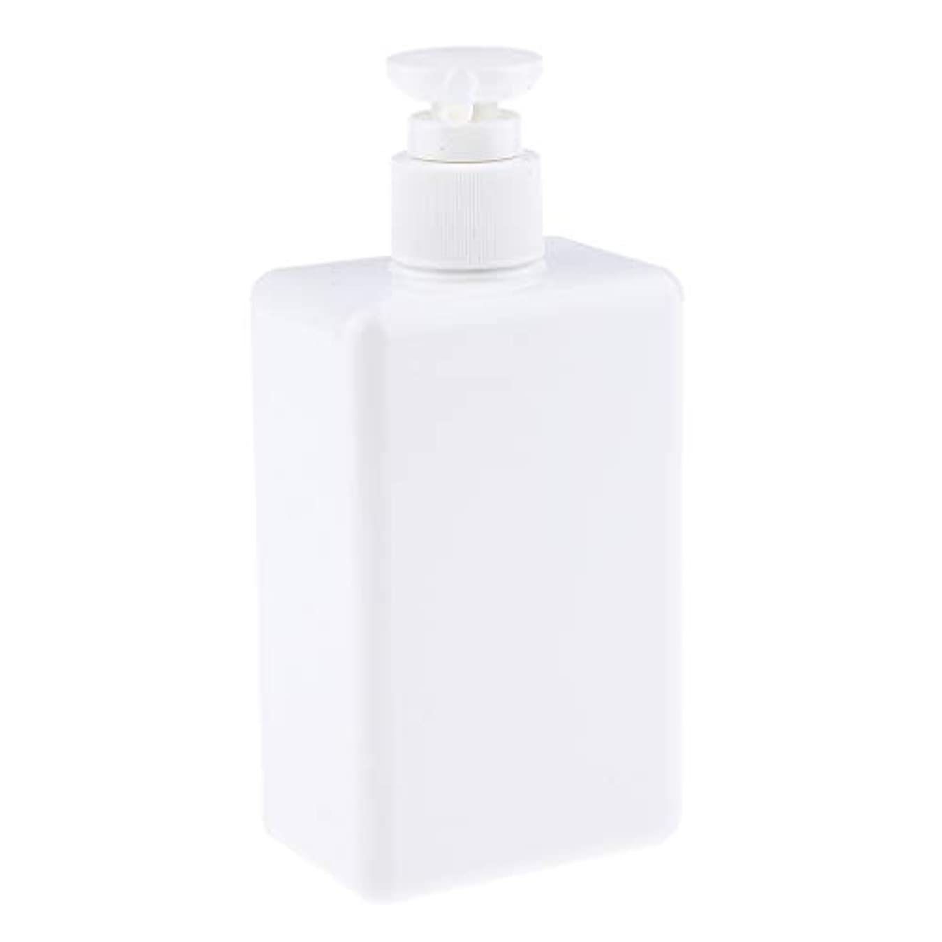 メインマンハッタン細心の280ml ポンプボトル 空ボトル 詰め替え容器 プラスチックボトル シャンプー 漏れ防止 全4色 - 白