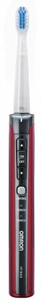 カセットエミュレーション捨てるOMRON オムロン音波式電動歯ブラシ メディクリーン HT-B453-R レッド