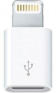 Apple 純正 Lightning Micro USB 8 ピン ライトニング 変換コネクタ アダプタ バルク MD820ZM/A   iOS7対応済み accessory Geeks 保証付き