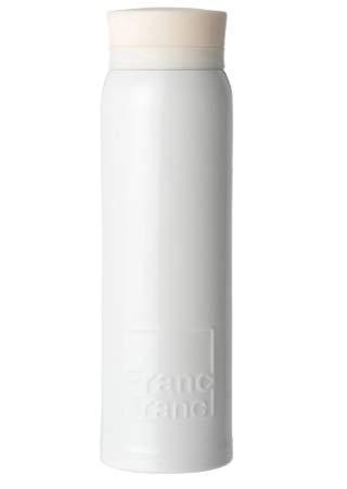 Francfranc エンボスロゴ 軽量ステンレスボトル 480ml 【ホワイト】 水筒 人気 オシャレ フランフラン 雑貨 インスタ