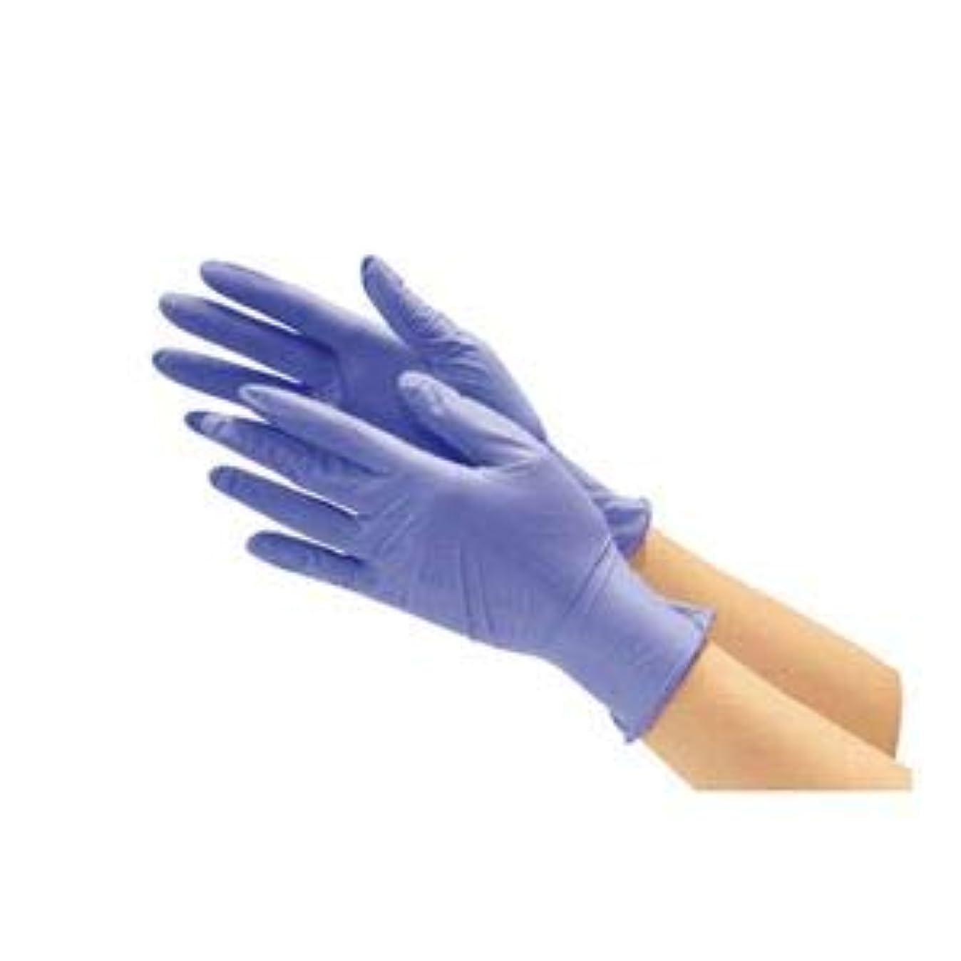 茎完璧な恒久的川西工業 ニトリル使い切り手袋 ブルーL 10箱