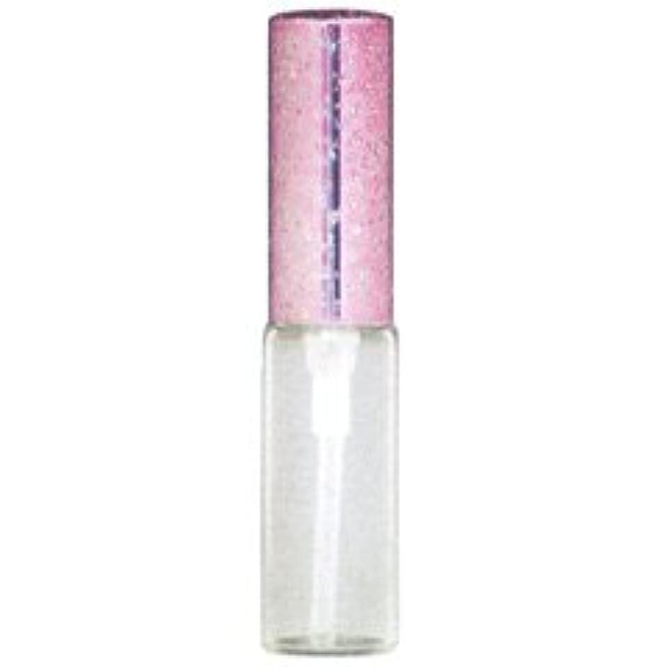 億テントラメ アルミキャップ ガラス アトマイザー 56187 (ラメCAP 4ML ピンク) 4ml 【ヒロセ アトマイザー】