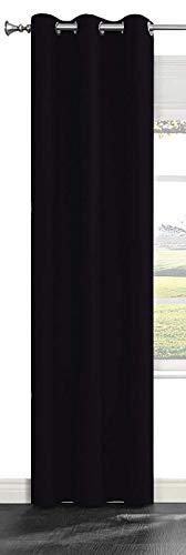 ユイツ 欧米人気おしゃれ遮熱断熱ドレープカーテン 玄関 お部屋 間仕切り 装飾用 直径4cm以内のカーテンポール適応 黒色 一枚入り …