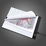 Keria a4USB LEDライトボード超薄型ライトパッドライトボックスに適用5dダイヤモンド絵画Artcraft Tattoo水彩コピーキルティングトレースby Numberキットをクリップ