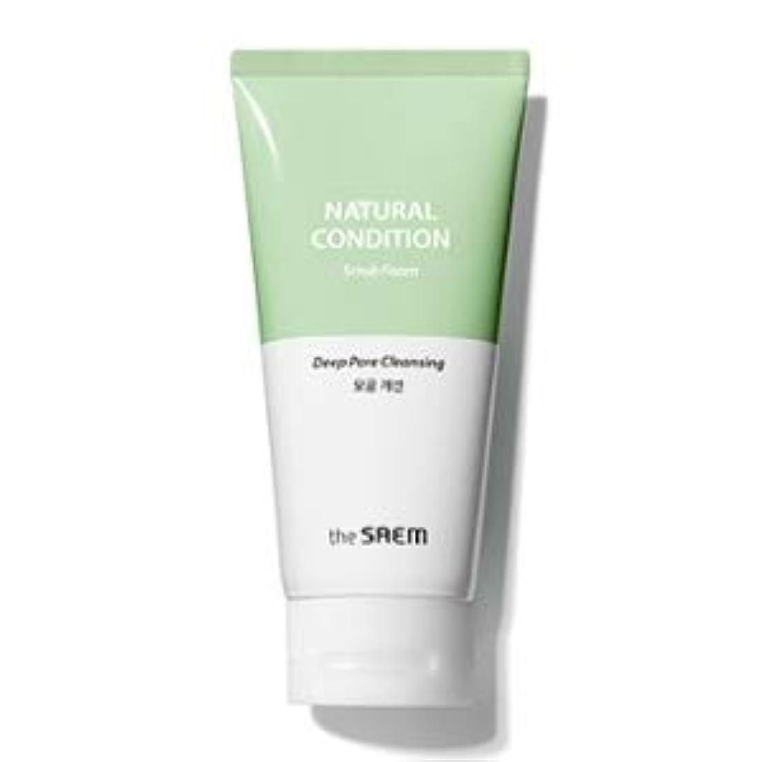 挨拶彫刻要旨The Saem Natural Condition Scrub Foam [Deep pore cleansing] (R)/ ザセム ナチュラルコンディションスクラブフォーム[毛穴改善] (R) [並行輸入品]