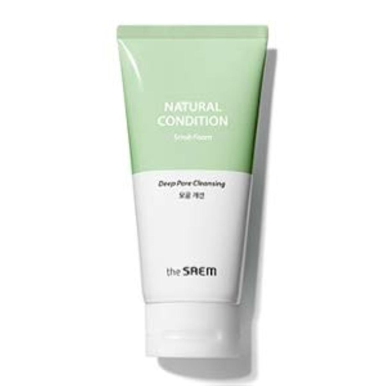 ストライプ浸す覚醒The Saem Natural Condition Scrub Foam [Deep pore cleansing] (R)/ ザセム ナチュラルコンディションスクラブフォーム[毛穴改善] (R) [並行輸入品]
