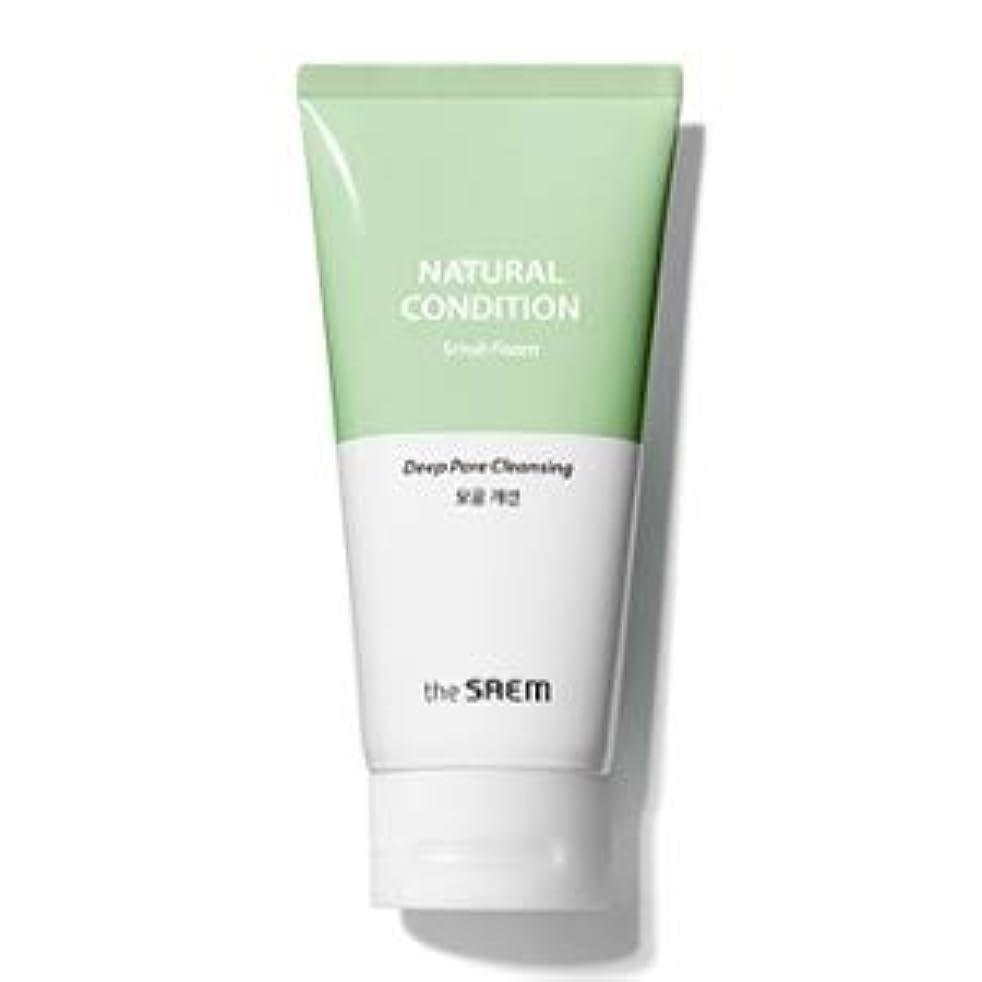 城しつけ意気揚々The Saem Natural Condition Scrub Foam [Deep pore cleansing] (R)/ ザセム ナチュラルコンディションスクラブフォーム[毛穴改善] (R) [並行輸入品]