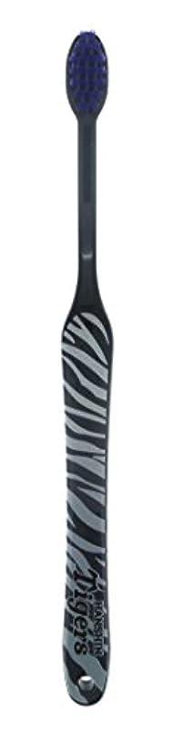 法律により伝統的別の阪神タイガース歯ブラシ 【 トラ柄(グレー) 】【日本製】