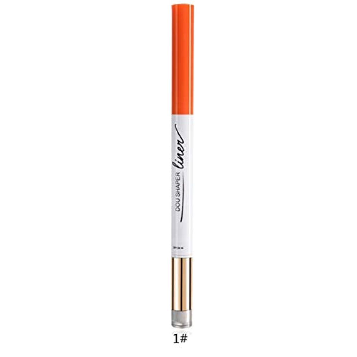 に向けて出発心配する同情的2で1ポータブルサイズ防水眉毛ペン+アイシャドウペン非フェード長持ち眉毛メイクペン美容化粧品ツール