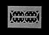 ドールハウスミニチュア壁登録カバー、真鍮色、2/ PK